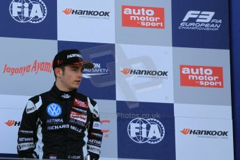 World © Octane Photographic Ltd. FIA European F3 Championship, Silverstone Race 3 rookie podium, UK, Sunday 12th April 2015. Van Amersfoort Racing – Charles Leclerc, Dallara F312 – Volkswagen. Digital Ref : 1224LW1L0996