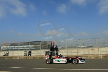 World © Octane Photographic Ltd. FIA European F3 Championship, Silverstone test day, UK, Tuesday 7th April 2015. Double R Racing – Matt Solomon, Dallara F312 – Mercedes-Benz. Digital Ref : 1216LW1L8487