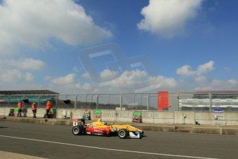 World © Octane Photographic Ltd. FIA European F3 Championship, Silverstone test day, UK, Tuesday 7th April 2015. Jagonya Ayam with Carlin – Gustavo Menezes, Dallara F312 – Volkswagen. Digital Ref : 1216LW1L8726