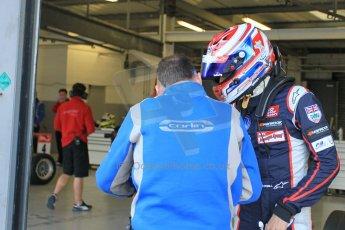 World © Octane Photographic Ltd. FIA European F3 Championship, Silverstone test day, UK, Tuesday 7th April 2015. Carlin – George Russell, Dallara F312 – Volkswagen. Digital Ref : 1216LW1L8794