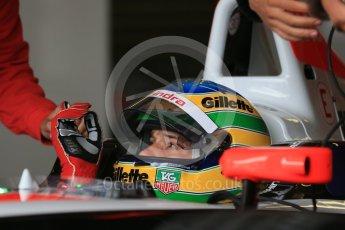 World © Octane Photographic Ltd. FIA Formula E testing – Donington Park 10th August 2015, Mahindra M2ELECTRO. Mahindra – Nick Heidfeld. Digital Ref : 1366LB1D4309