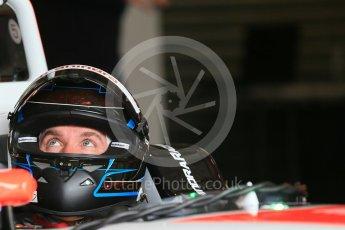 World © Octane Photographic Ltd. FIA Formula E testing – Donington Park 10th August 2015, Mahindra M2ELECTRO. Mahindra – Nick Heidfeld. Digital Ref : 1366LB1D4321