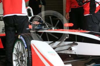 World © Octane Photographic Ltd. FIA Formula E testing – Donington Park 10th August 2015, Mahindra M2ELECTRO. Mahindra – Nick Heidfeld. Digital Ref : 1366LB1D4325