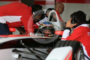 World © Octane Photographic Ltd. FIA Formula E testing – Donington Park 10th August 2015, Mahindra M2ELECTRO. Mahindra – Bruno Senna. Digital Ref : 1366LB1D4381