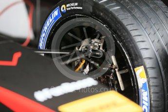 World © Octane Photographic Ltd. FIA Formula E testing – Donington Park 10th August 2015, Venturi VM200-FE-01. Venturi – Jacques Villeneuve. Michelin tyres. Digital Ref : 1366LB1D4408
