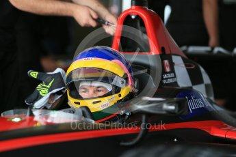 World © Octane Photographic Ltd. FIA Formula E testing – Donington Park 10th August 2015, Venturi VM200-FE-01. Venturi – Jacques Villeneuve. Digital Ref : 1366LB1D4416