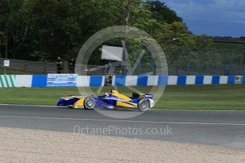 World © Octane Photographic Ltd. FIA Formula E testing – Donington Park 10th August 2015, Renault Z.E.15. Renault e.Dams – Sebastien Buemi. Digital Ref : 1366LB1D4496