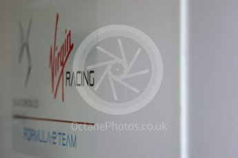 World © Octane Photographic Ltd. FIA Formula E testing – Donington Park 11th August 2015, Virgin DSV-01. DS Virgin Racing logo. Digital Ref : 1367LB1D4651