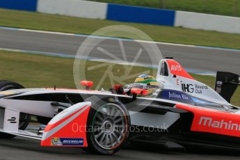 World © Octane Photographic Ltd. FIA Formula E testing – Donington Park 11th August 2015, Mahindra M2ELECTRO. Mahindra – Bruno Senna. Digital Ref : 1367LB1D4965