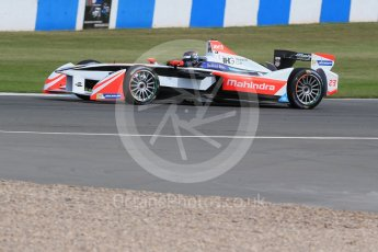 World © Octane Photographic Ltd. FIA Formula E testing – Donington Park 11th August 2015, Mahindra M2ELECTRO. Mahindra – Nick Heidfeld. Digital Ref : 1367LB1D5090