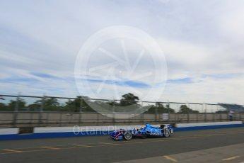 World © Octane Photographic Ltd. FIA Formula E testing – Donington Park 11th August 2015, Andretti ATEC-01. Amlin-Andretti – Simona di Silvestro. Digital Ref : 1367LB5D2419