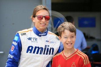 World © Octane Photographic Ltd. FIA Formula E testing – Donington Park 11th August 2015, Andretti ATEC-01. Amlin-Andretti – Simona di Silvestro. Digital Ref : 1367LB5D2496