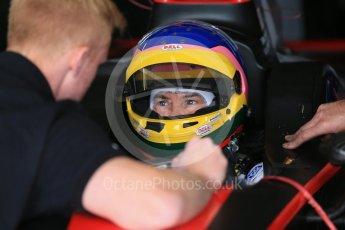 World © Octane Photographic Ltd. FIA Formula E testing – Donington Park 17th August 2015, Mahindra M2ELECTRO. Mahindra – Bruno Senna. Digital Ref : 1368LB1D5448