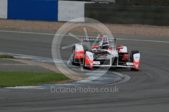 World © Octane Photographic Ltd. FIA Formula E testing – Donington Park 17th August 2015, Mahindra M2ELECTRO. Mahindra – Nick Heidfeld. Digital Ref : 1368LB1D5669