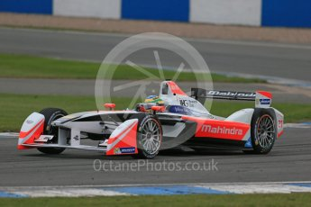 World © Octane Photographic Ltd. FIA Formula E testing – Donington Park 17th August 2015, Mahindra M2ELECTRO. Mahindra – Bruno Senna. Digital Ref : 1368LB1D5696