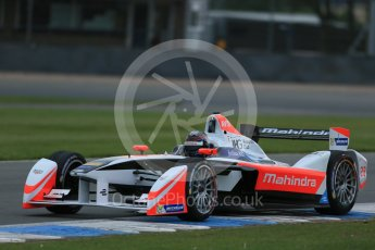 World © Octane Photographic Ltd. FIA Formula E testing – Donington Park 17th August 2015, Mahindra M2ELECTRO. Mahindra – Nick Heidfeld. Digital Ref : 1368LB1D5760