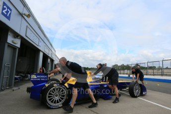 World © Octane Photographic Ltd. FIA Formula E testing – Donington Park 17th August 2015, Renault Z.E.15. Renault e.Dams – Nicolas Prost. Digital Ref : 1368LB5D2655