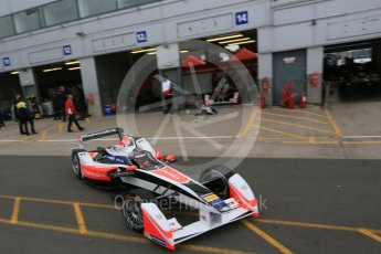 World © Octane Photographic Ltd. FIA Formula E testing – Donington Park 17th August 2015, Mahindra M2ELECTRO. Mahindra – Nick Heidfeld. Digital Ref : 1368LB5D2736
