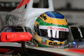 World © Octane Photographic Ltd. FIA Formula E testing – Donington Park 18th August 2015, Mahindra M2ELECTRO. Mahindra – Bruno Senna. Digital Ref : 1369LB1D6198