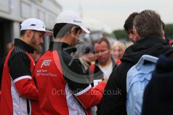 World © Octane Photographic Ltd. FIA Formula E testing – Donington Park 18th August 2015, ABT Shaeffler FE01. ABT Shaeffler Audi Sport – Lucas di Grassi and Daniel Abt. Digital Ref : 1369LB1D6218