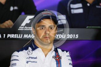 World © Octane Photographic Ltd. FIA Drivers' Press Conference. Thursday 23rd July 2015, F1 Hungarian GP, Hungaroring, Hungary. Sauber F1 Team – Felipe Nasr. Digital Ref: 1345LB1D7194