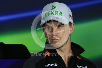 World © Octane Photographic Ltd. FIA Drivers' Press Conference. Thursday 23rd July 2015, F1 Hungarian GP, Hungaroring, Hungary. Sahara Force India – Nico Hulkenberg. Digital Ref: 1345LB1D7512