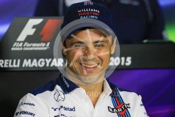 World © Octane Photographic Ltd. FIA Drivers' Press Conference. Thursday 23rd July 2015, F1 Hungarian GP, Hungaroring, Hungary. Sauber F1 Team – Felipe Nasr. Digital Ref: 1345LB1D7571