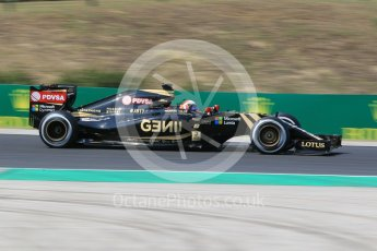 World © Octane Photographic Ltd. Lotus F1 Team E23 Hybrid – Romain Grosjean. Friday 24th July 2015, F1 Hungarian GP Practice 2, Hungaroring, Hungary. Digital Ref: 1348CB1L5376