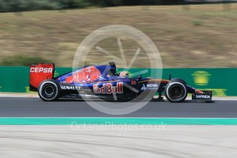 World © Octane Photographic Ltd. Scuderia Toro Rosso STR10 – Max Verstappen. Friday 24th July 2015, F1 Hungarian GP Practice 2, Hungaroring, Hungary. Digital Ref: 1348CB1L5420
