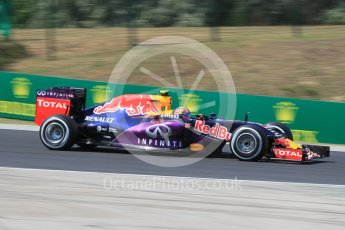 World © Octane Photographic Ltd. Infiniti Red Bull Racing RB11 – Daniil Kvyat. Friday 24th July 2015, F1 Hungarian GP Practice 2, Hungaroring, Hungary. Digital Ref: 1348CB1L5428