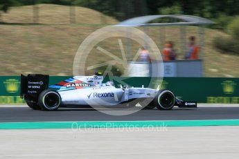 World © Octane Photographic Ltd. Williams Martini Racing FW37 – Valtteri Bottas. Friday 24th July 2015, F1 Hungarian GP Practice 2, Hungaroring, Hungary. Digital Ref: 1348CB1L5432