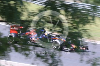 World © Octane Photographic Ltd. Scuderia Toro Rosso STR10 – Max Verstappen. Friday 24th July 2015, F1 Hungarian GP Practice 2, Hungaroring, Hungary. Digital Ref: 1348CB1L5480