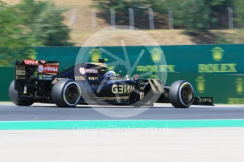 World © Octane Photographic Ltd. Lotus F1 Team E23 Hybrid – Pastor Maldonado. Friday 24th July 2015, F1 Hungarian GP Practice 2, Hungaroring, Hungary. Digital Ref: 1348CB7D8138