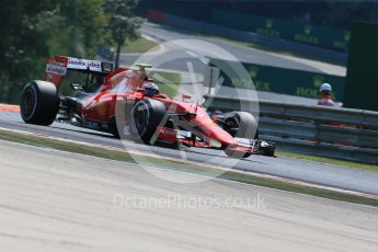 World © Octane Photographic Ltd. Scuderia Ferrari SF15-T– Kimi Raikkonen. Friday 24th July 2015, F1 Hungarian GP Practice 2, Hungaroring, Hungary. Digital Ref: 1348LB1D8591