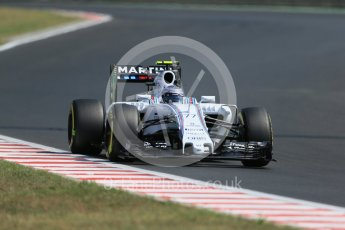 World © Octane Photographic Ltd. Williams Martini Racing FW37 – Valtteri Bottas. Friday 24th July 2015, F1 Hungarian GP Practice 2, Hungaroring, Hungary. Digital Ref: 1348LB1D8868