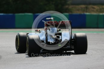 World © Octane Photographic Ltd. Lotus F1 Team E23 Hybrid – Pastor Maldonado. Friday 24th July 2015, F1 Hungarian GP Practice 2, Hungaroring, Hungary. Digital Ref: 1348LB1D8927