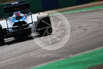 World © Octane Photographic Ltd. Williams Martini Racing FW37 – Valtteri Bottas. Friday 24th July 2015, F1 Hungarian GP Practice 2, Hungaroring, Hungary. Digital Ref: 1348LB1D9020