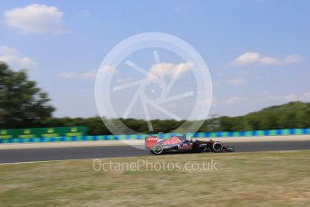 World © Octane Photographic Ltd. Scuderia Toro Rosso STR10 – Max Verstappen. Friday 24th July 2015, F1 Hungarian GP Practice 2, Hungaroring, Hungary. Digital Ref: 1348LB5D0542