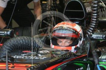 World © Octane Photographic Ltd. McLaren Honda MP4/30 - Jenson Button. Saturday 25th July 2015, F1 Hungarian GP Practice 3, Hungaroring, Hungary. Digital Ref: 1352LB1D0165