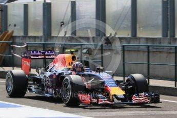 World © Octane Photographic Ltd. Infiniti Red Bull Racing RB11 – Daniil Kvyat. Saturday 25th July 2015, F1 Hungarian GP Practice 3, Hungaroring, Hungary. Digital Ref: 1352LB1D0289