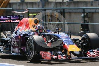 World © Octane Photographic Ltd. Infiniti Red Bull Racing RB11 – Daniil Kvyat. Saturday 25th July 2015, F1 Hungarian GP Practice 3, Hungaroring, Hungary. Digital Ref: 1352LB1D0349