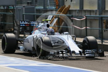 World © Octane Photographic Ltd. Williams Martini Racing FW37 – Valtteri Bottas. Saturday 25th July 2015, F1 Hungarian GP Practice 3, Hungaroring, Hungary. Digital Ref: 1352LB1D0455