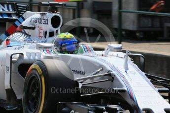World © Octane Photographic Ltd. Williams Martini Racing FW37 – Felipe Massa. Saturday 25th July 2015, F1 Hungarian GP Practice 3, Hungaroring, Hungary. Digital Ref: 1352LB1D0688