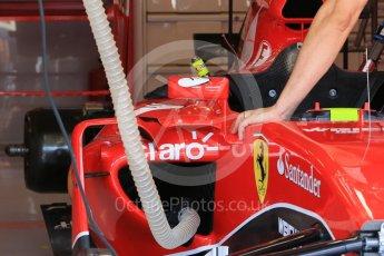 World © Octane Photographic Ltd. Scuderia Ferrari SF15-T rear wing – Kimi Raikkonen. Saturday 25th July 2015, F1 Hungarian GP Practice 3, Hungaroring, Hungary. Digital Ref: 1352LB1D9732