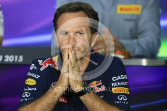 World © Octane Photographic Ltd. FIA Team Personnel Press Conference. Friday 24th July 2015, F1 Hungarian GP, Hungaroring, Hungary. Christian Horner – Infiniti Red Bull Racing Team Principle. Digital Ref: 1351LB1D9146