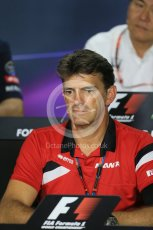 World © Octane Photographic Ltd. FIA Team Personnel Press Conference. Friday 24th July 2015, F1 Hungarian GP, Hungaroring, Hungary. Graeme Lowdon - Chief Executive Officer of the Manor Formula One team. Digital Ref: 1351LB1D9154
