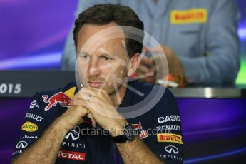 World © Octane Photographic Ltd. FIA Team Personnel Press Conference. Friday 24th July 2015, F1 Hungarian GP, Hungaroring, Hungary. Christian Horner – Infiniti Red Bull Racing Team Principle. Digital Ref: 1351LB1D9174