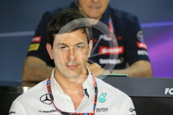 World © Octane Photographic Ltd. FIA Team Personnel Press Conference. Friday 24th July 2015, F1 Hungarian GP, Hungaroring, Hungary. Toto Wolff – Mercedes AMG Petronas Executive Director. Digital Ref: 1351LB1D9222