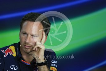 World © Octane Photographic Ltd. FIA Team Personnel Press Conference. Friday 24th July 2015, F1 Hungarian GP, Hungaroring, Hungary. Christian Horner – Infiniti Red Bull Racing Team Principle. Digital Ref: 1351LB1D9267