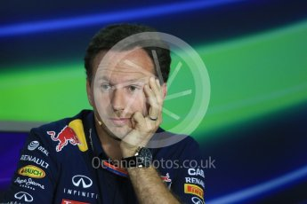 World © Octane Photographic Ltd. FIA Team Personnel Press Conference. Friday 24th July 2015, F1 Hungarian GP, Hungaroring, Hungary. Christian Horner – Infiniti Red Bull Racing Team Principle. Digital Ref: 1351LB1D9292